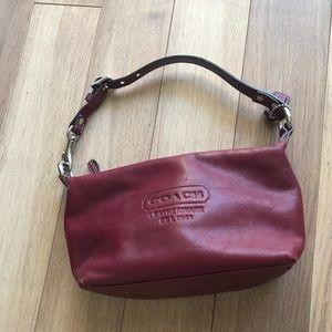 COACH   Burgundy Leatherware Small Purse Handbag